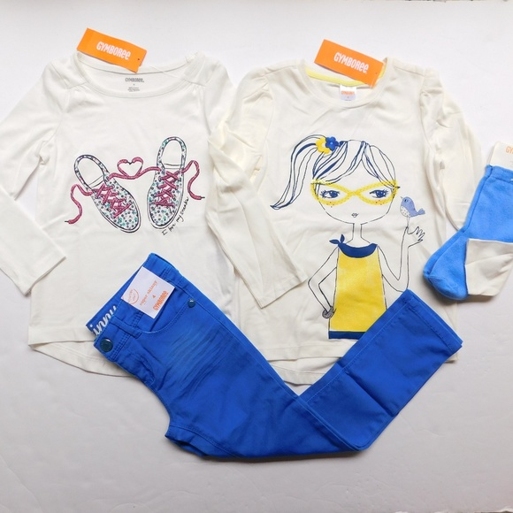 Gymboree Other - Gymboree Girls Graphic Top Tee Skinny Jeans Lot 4
